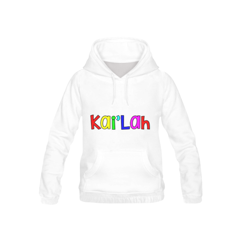 Kai Lah - letter rainbow font chunky All Over Print Hoodie for Kid (USA Size) (Model H13)