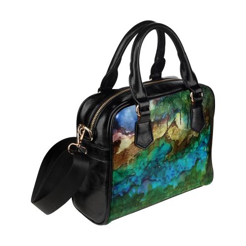 Nightscape#1 Shoulder Handbag (Model 1634)