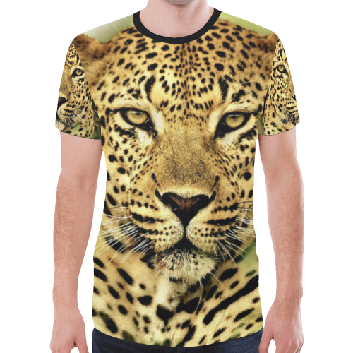 leopard11 New All Over Print T-shirt for Men (Model T45)