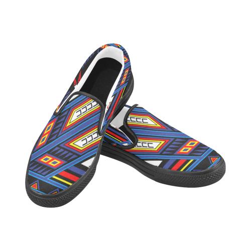 War Horse Shield Men's Slip-on Canvas Shoes (Model 019)