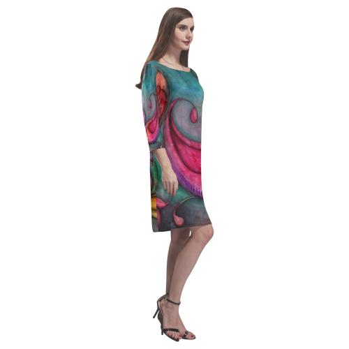 Rainbow Pods Rhea Loose Round Neck Dress(Model D22)