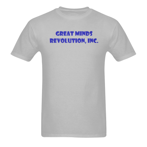 GM Rev, Inc - name on gray Sunny Men's T-shirt (USA Size) (Model T02)
