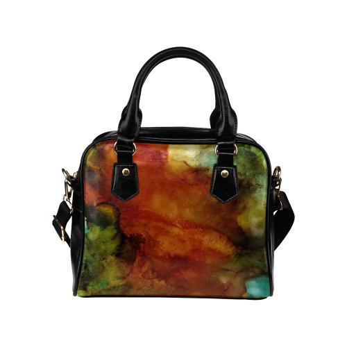 Abstract#7 Shoulder Handbag (Model 1634)
