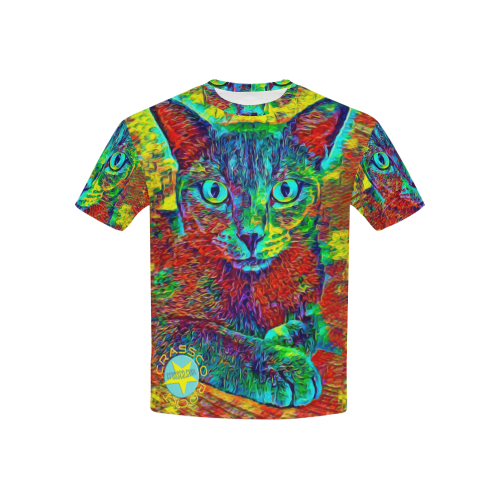 CATS SPECIAL MULTICOLOR All Over Print T-shirt for Kid (USA Size) (Model T40)