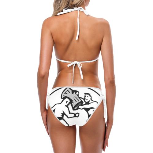 Trash Can Shot - b & w Custom Bikini Swimsuit (Model S01)