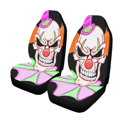 Clown Sugar Skull Car Seat Covers Set Of 2