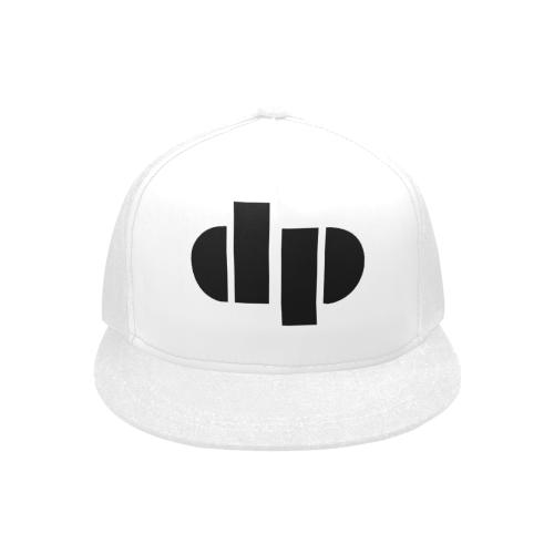 dp White Hat Snapback Hat G (Front Panel Customization)