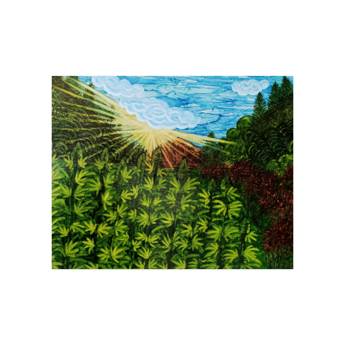 """Sun & flowers are the Best Medicine Poster 20""""x16"""""""