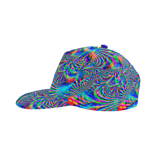 01aa9c16631c0 Psychedelic Tropical Rave All Over Print Snapback Hat A