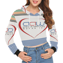 d8722d45c66ca Customizable Holiday All Over Print Crop Hoodie for Women (H22 ...