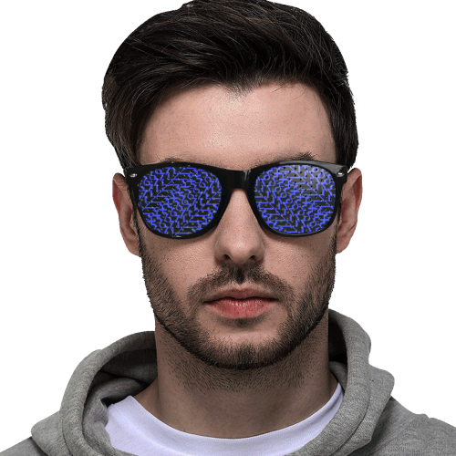 NUMBERS COLLECTION 1234567 ROYAL Custom Sunglasses (Perforated Lenses)