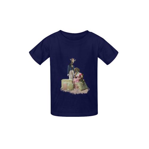 b4be7eccc Funny Giraffe and Guinea Pig Couple Kid's Classic T-shirt (Model T22)   ID:  D3064878