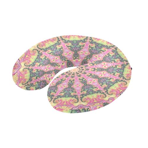 Funky Fractal Mandala U-Shape Travel Pillow
