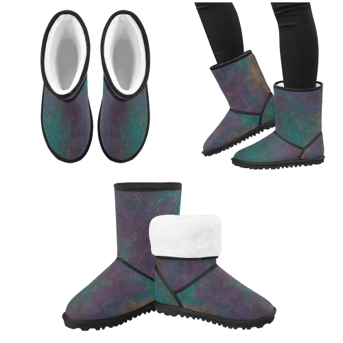 Design shoe - glitters pink, blue Custom High Top Kid's Snow Boots (Model 050)