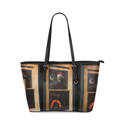 Numan Christmas bag Leather Tote Bag/Small (Model 1640)