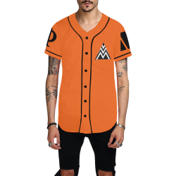 Orange NU All Over Print Baseball Jersey for Men (Model T50)
