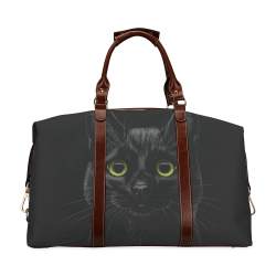 Black Cat Classic Travel Bag (Model 1643) Remake