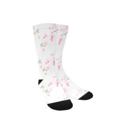 Pattern Orchidées Custom Socks for Women