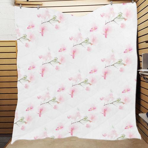 """Pattern Orchidées Quilt 60""""x70"""""""