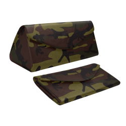 Camo Green Brown Custom Foldable Glasses Case