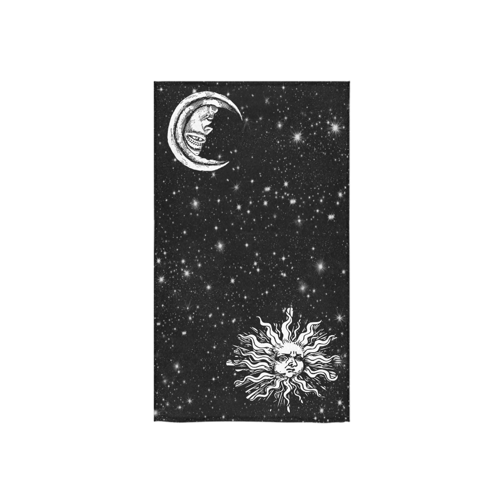 "Mystic Sun and Moon Custom Towel 16""x28"""