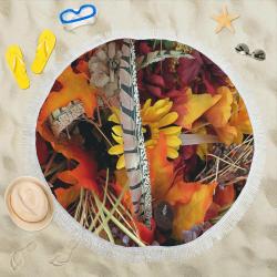 """Autumn Blends Circular Beach Shawl 59""""x 59"""""""