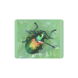 Pretty green bug, Low poly dogbane beetle Rectangle Mousepad