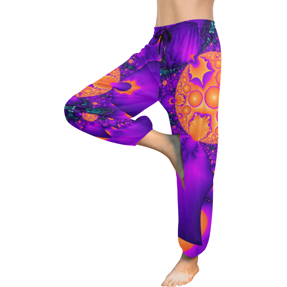 Planetary Clash Women's All Over Print Harem Pants (Model L18)