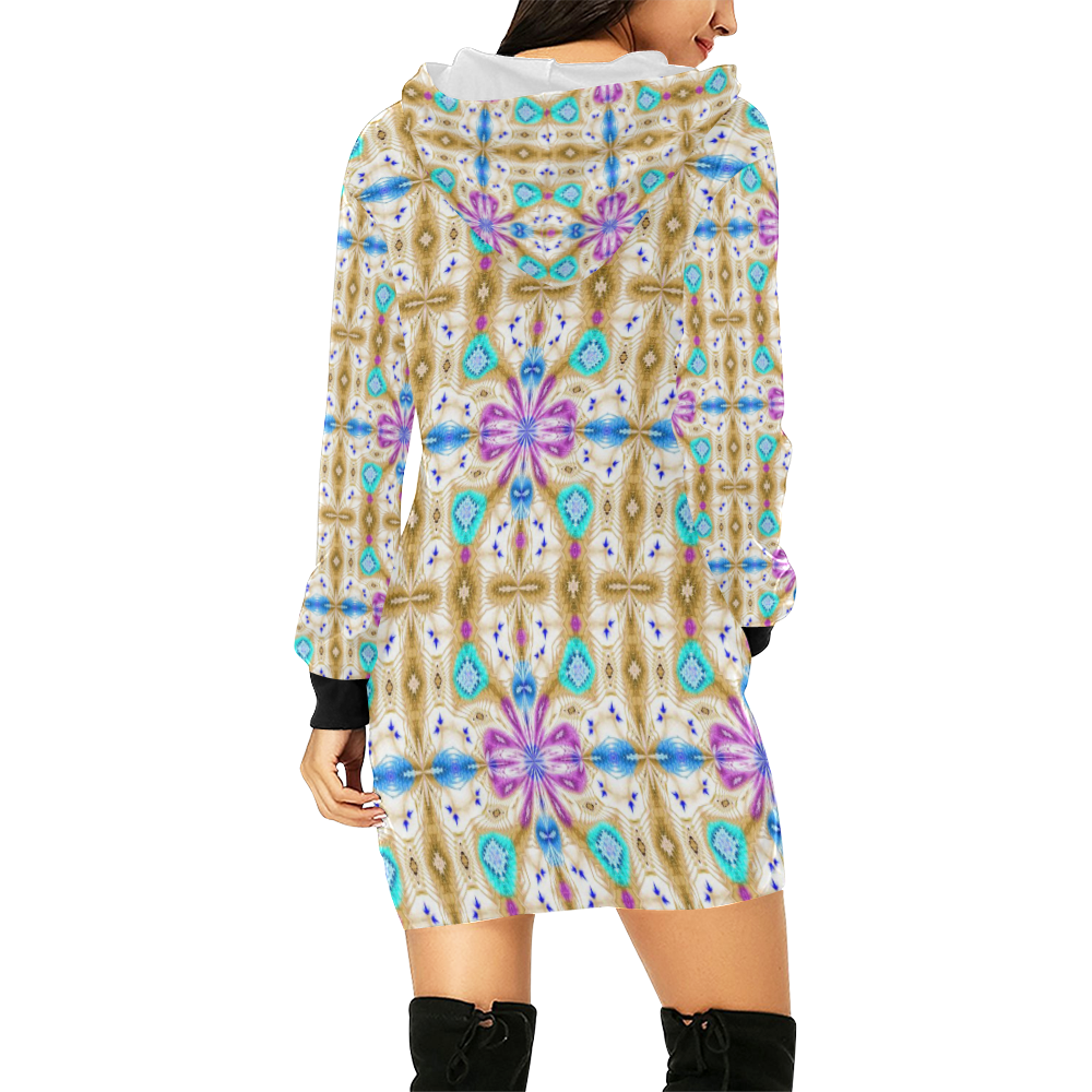 McKenzie's Offroading Adventure All Over Print Hoodie Mini Dress (Model H27)