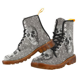 Modern sparkling Skull A by JamColors Martin Boots For Women Model 1203H