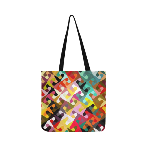 Colorful shapes Reusable Shopping Bag Model 1660 (Two sides)