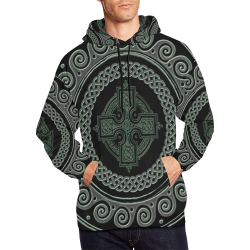 Awesome Celtic Cross All Over Print Hoodie for Men (USA Size) (Model H13)