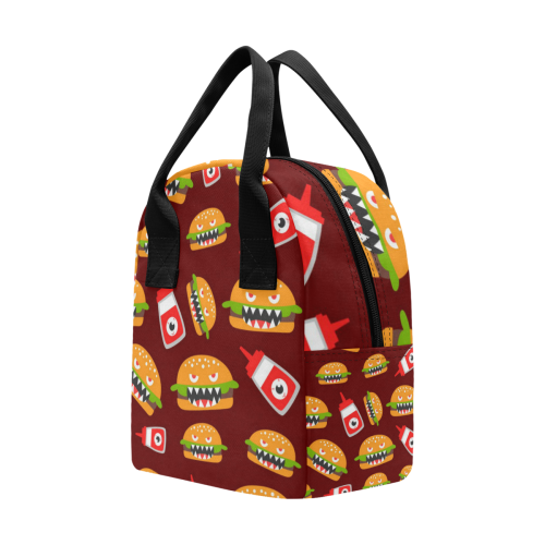 Funny Burgers Lunch Bag Zipper Lunch Bag (Model 1689)