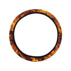 Flaming Fire Pattern Steering Wheel Cover with Elastic Edge