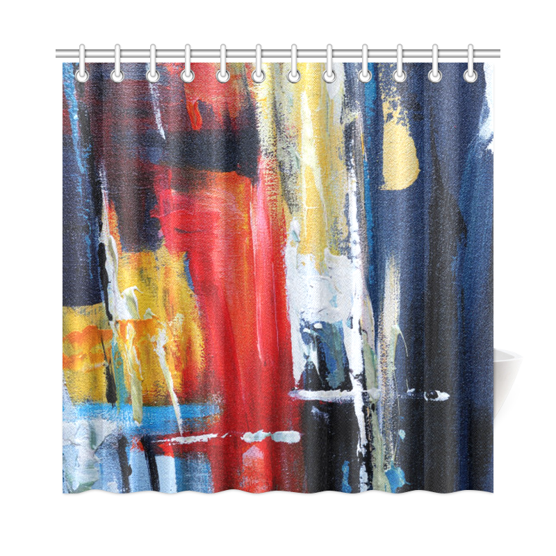 "Abstract Art Shower Curtain Shower Curtain 72""x72"""