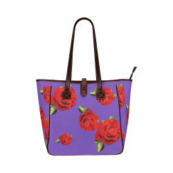 Fairlings Delight's Floral Luxury Collection- Red Rose Handbag 53086ia7 Classic Tote Bag (Model 1644)