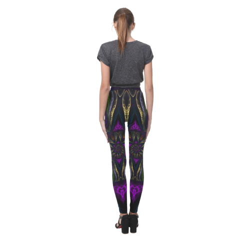vortex triangles Cassandra Women's Leggings (Model L01)
