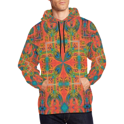 Horus 2 Airbrush All Over Print Hoodie for Men/Large Size (USA Size) (Model H13)