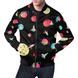 Far Out All Over Print Bomber Jacket for Men (Model H19)
