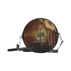 Mechanical skull Round Sling Bag (Model 1647)