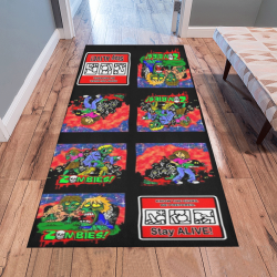 Zombie Cartoon Pattern Area Rug 7'x3'3''