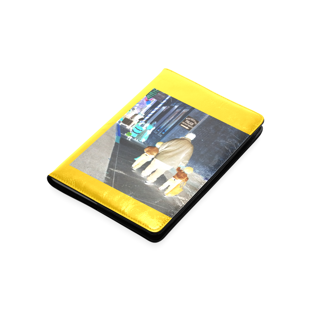 Ghosts roaming the street (yellow) Custom NoteBook A5
