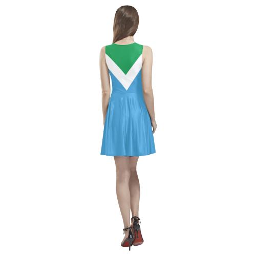 Vegan Flag Thea Sleeveless Skater Dress(Model D19)