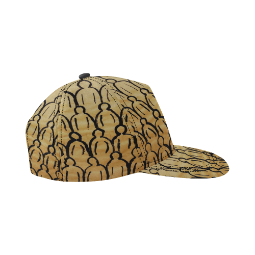 crowd All Over Print Snapback Hat D