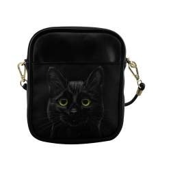 Black Cat Sling Bag (Model 1627)