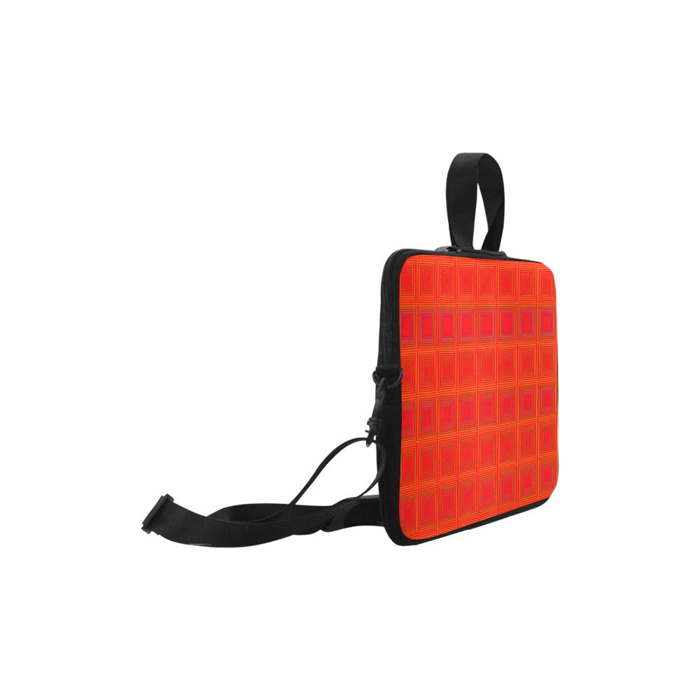 """Red orange multicolored multiple squares Laptop Handbags 10"""""""