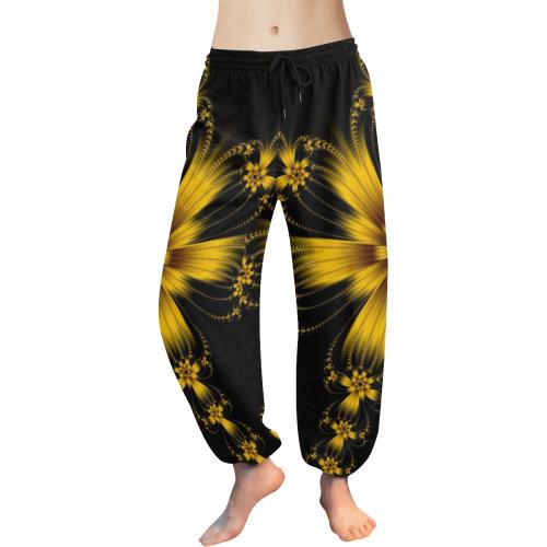 Copper Flower Burst Women's All Over Print Harem Pants (Model L18)