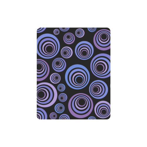 Retro Psychedelic Ultraviolet Pattern Rectangle Mousepad
