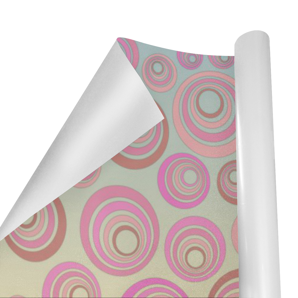 "Retro Psychedelic Pink and Blue Gift Wrapping Paper 58""x 23"" (1 Roll)"