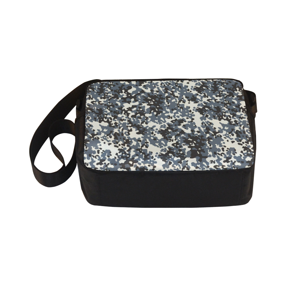 Urban City Black/Gray Digital Camouflage Classic Cross-body Nylon Bags (Model 1632)